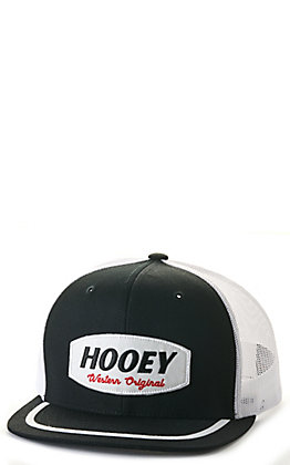 Hooey Galveston Black and White Patch Trucker Cap