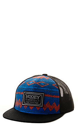 Hooey Kids' Blue Aztec and Black Mercantile Patch Snapback Cap