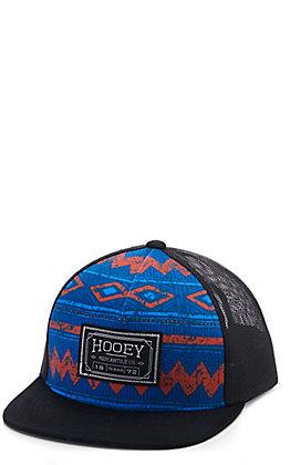 Hooey Blue Aztec and Black Mercantile Patch Snapback Cap