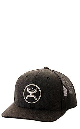 Hooey Black with Silver Logo Mesh Back Cap
