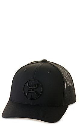 Hooey Black with Black Logo Mesh Back Cap