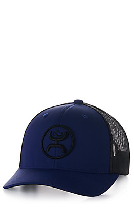 Hooey Blue and Black O Classic Logo Mesh Back Cap