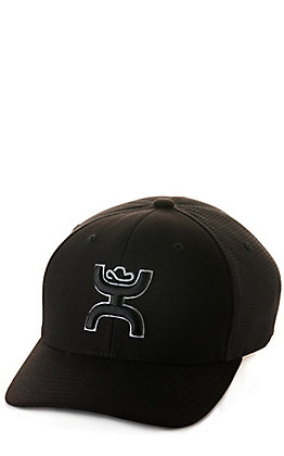 Hooey Black and Ash Grey Coach Logo Flexfit Cap