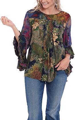 Ethyl Women's Floral Multicolor Birmingham Fashion Top