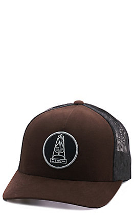HOOey Brown & Black Mesh Back Cap