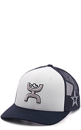 HOOey White & Navy Dallas Cowboys Snapback Cap