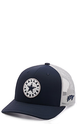 HOOey Dallas Cowboys Circle Star Patch Navy Snapback Cap