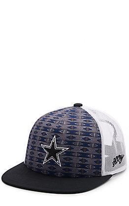 HOOey Navy Aztec Print & White Dallas Cowboys Star Patch Snapback Cap