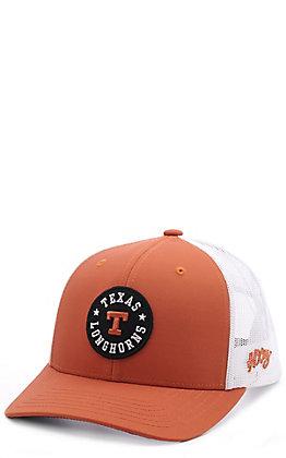 HOOey Orange & White Texas Longhorns Patch Snapback Cap