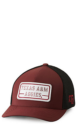 Hooey Maroon and Black Texas A&M Patch Water Resistant Cap