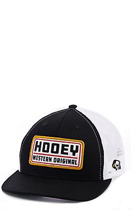 Hooey Black and White Western Original Patch Snapback Cap