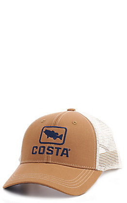 Costa Bass Trucker Brown and Cream Cap