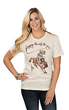 XOXO Art & Co. Women's Soft Happy Trails Graphic T-Shirt