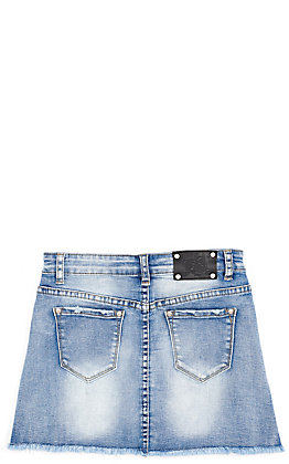 Wired Heart Girl's Denim Skirt