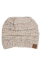 C.C. Beanies Speckled Oatmeal Knit Beanie Hat