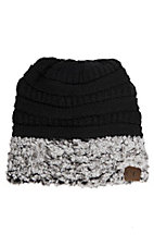 C.C. Beanies Sherpa Black Heather Beanie