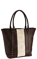 3-D Belt Company Women's Brown and Tan Lace Handbag - Concealed Carry