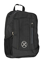 HOOey Logic Textured Black Backpack