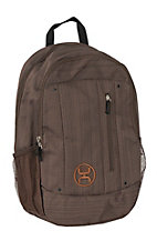HOOey Logic Textured Brown Backpack