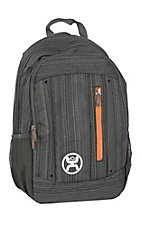 HOOey Logic Textured Grey Backpack