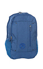 HOOey Royal Blue Textured Backpack