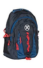 HOOey Black, Blue, and Red Outdoor Backpack