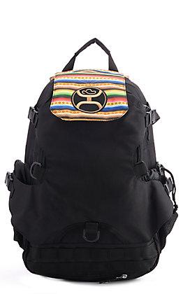 HOOey Mule Black and Serape Print Backpack