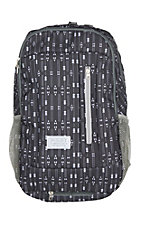 Hooey Rockstar Dark Grey with White Aztec Print Backpack with Hat Strap