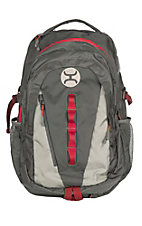 Hooey Phenom Grey with Red Backpack with Hat Strap