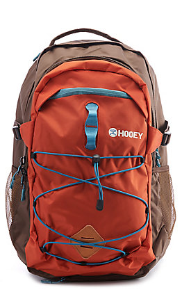 HOOey Phenom Orange and Brown Backpack