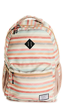 HOOey Recess Cream with Pastel Stripes Backpack