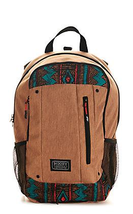 HOOey Rockstar Brown Aztec Print Backpack