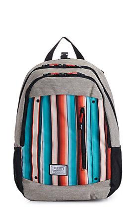 HOOey Rockstar Grey Serape Print Backpack