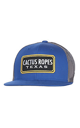 HOOey Blue with Grey Cactus Ropes Patch Cap