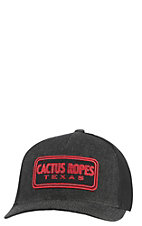 be5a8673e HOOey  HOOey Cactus Ropes Black Trucker Mesh Fitted Cap
