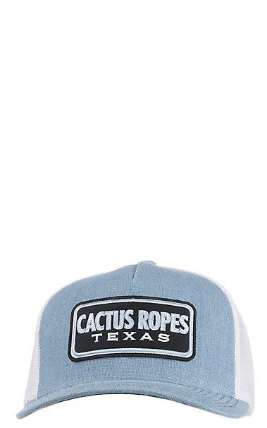d1ca9af4928 HOOey Cactus Ropes Blue Trucker Mesh Snap Back Cap
