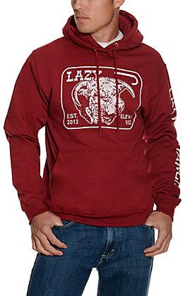 Lazy J Ranch Wear Men's Cardinal Elevation Logo Hoodie