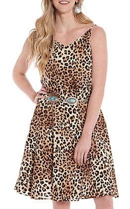HYFVE Women's Leopard Tank Dress