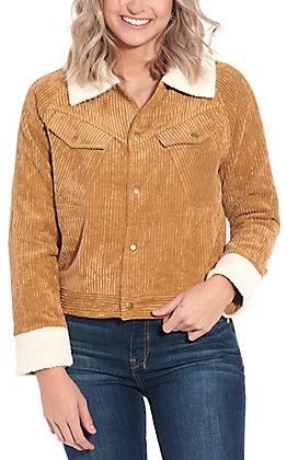 HYFVE Women's Camel Corduroy Jacket