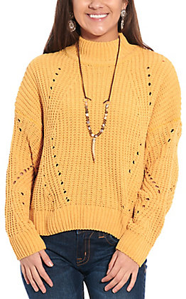 HYFVE Women's Gold Long Sleeve Sweater