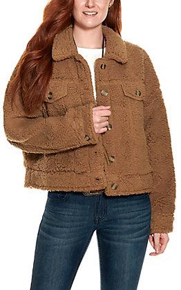 HYFVE Women's Toffee Long Sleeve Teddy Jacket