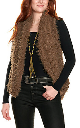 HYFVE Women's Toffee Faux Fur Vest