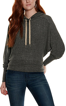 HYFVE Women's Charcoal Heather Long Sleeve Hoodie