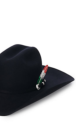 Montana Silversmiths Mexican Flag Hat Feather