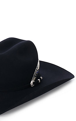 Montana Silversmiths Silver Stars and Stripes Blue Line Hat Feather