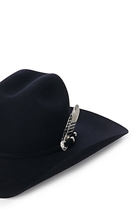 Montana Silversmiths Silver and Black Stars and Stripes Hat Feather