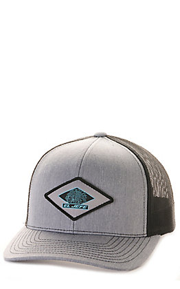 Stackin Bills Heather Grey with Black Mesh Back El Jefe Patch Cap