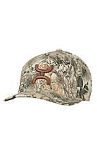 HOOey Game Guard Camo with Hands Up Logo Flex Fit Cap