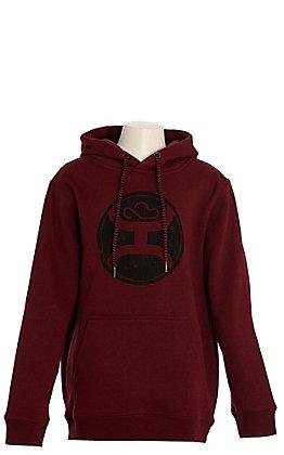 Hooey Boy's 2.0 Maroon with Black Logo Hooded Sweatshirt
