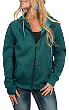 HOOey Women's Teal Zip Jacket